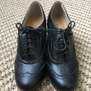 Leatherette Lace Up Oxford Chunky Booties